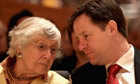 Shirley Williams and Nick Clegg