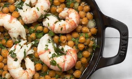 Richard Corrigan's Dublin bay prawns with chickpeas and cumin