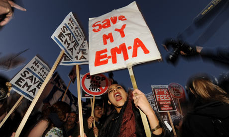 Students EMA protest