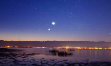 Venus and Jupiter in conjunction