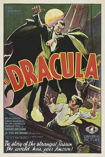 Top Selling Film Posters: Top Selling Film Posters - Dracula, 1931