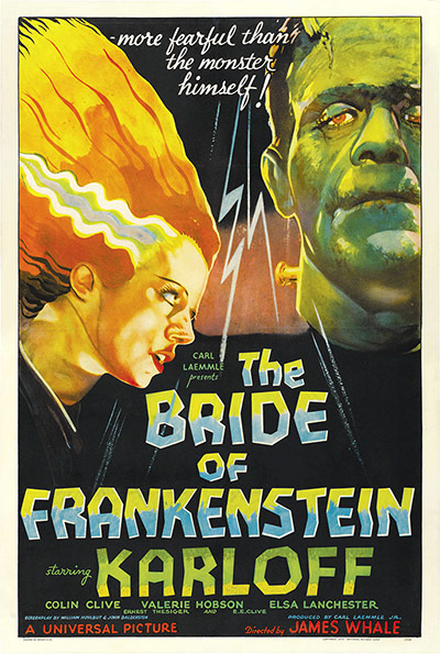 Top Selling Film Posters: Top Selling Film Posters - The Bride of Frankenstein, 1935