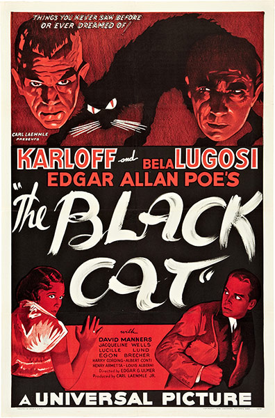 Top Selling Film Posters: Top Selling Film Posters - The Black Cat, 1934