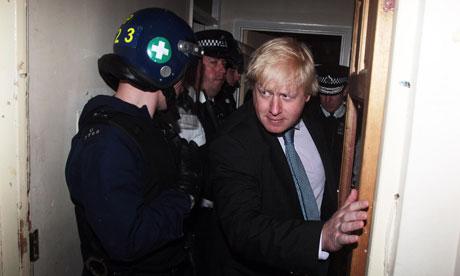 Police raid in North London