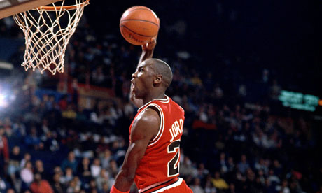 Michael jordan and nba stars trash talk makes news and sells video