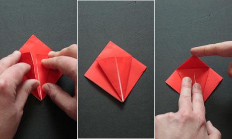 Origami step four