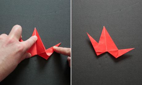 Origami step nine