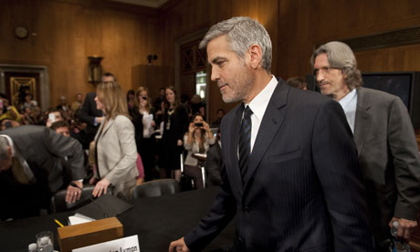 Actor George Clooney arrives to testify on Sudan and South Sudan b