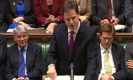 Nick Clegg at prime minister's questions