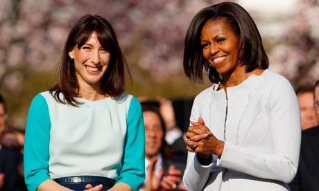 Samantha Cameron and Michelle Obama