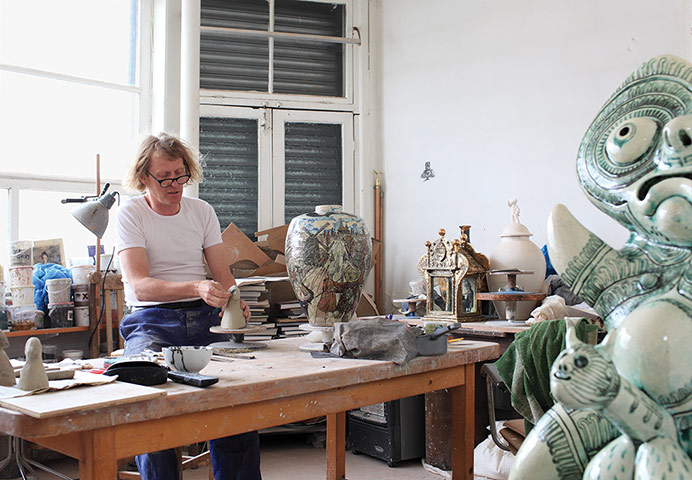 Artists: Grayson Perry in his studio