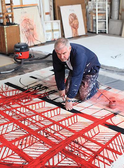 Artists: Artist Tony Bevan in his studio