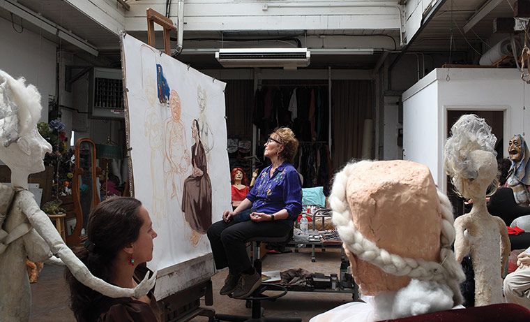 Artists: Artist Paula Rego at work in her studio