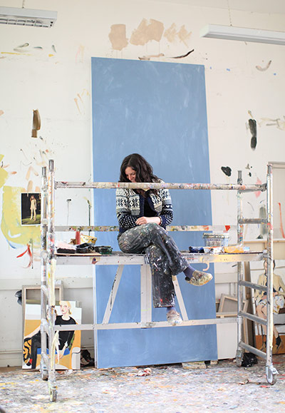 Artists: Chantal Joffe in her studio