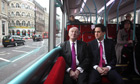Ed Miliband and the London mayoral candidate Ken Livingstone