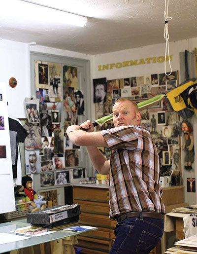 Artists: George Shaw in his studio