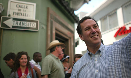 Rick Santorum campaigns in Puerto Rico