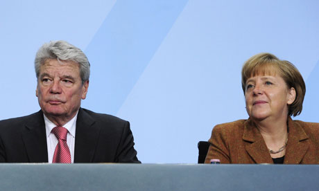 Joachim Gauck and Angela Merkel