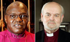 Archbishop of York John Sentamu and Bishop of London Richard Chartres