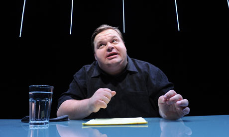 Mike Daisey performing monologue