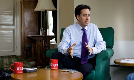 Ed Miliband, leader of the Labour Party, in his Westminster office
