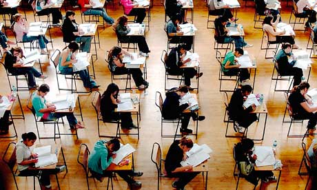 Children sit GCSEs