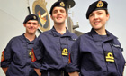 New navy uniform on HMS Daring