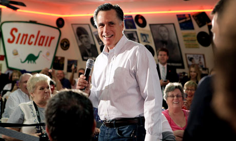 Mitt Romney campaigning in Illinois