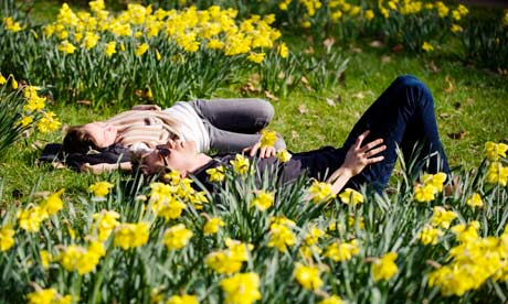 Spring in Green Park, London