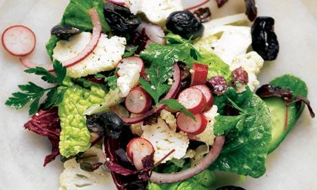 Yotam Ottolenghi's raw cauliflower and lettuce salad