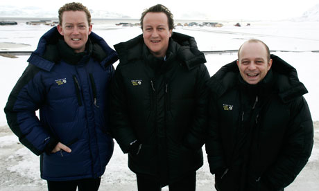 Gregory Barker, David Cameron and Steve Hilton during their 2006 visit to the Arctic