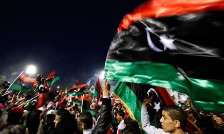 libyans celebrate uprising