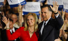 Mitt and Ann Romney in Schaumburg, Illinois