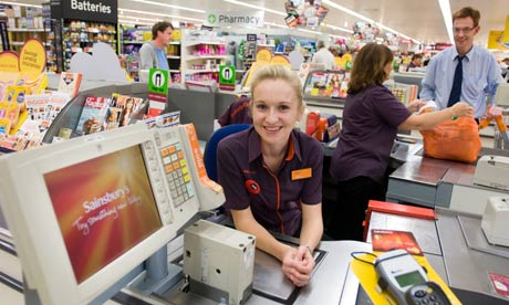 customer services at sainsburys About sainsbury's  in the uk, sainsbury's is the third biggest supermarket chain they sell a wide range of groceries, clothing and entertainment products, yet they also have additional services available too, such as mobile phone contracts, energy services, and banking services.