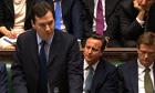 George Osborne presenting the budget