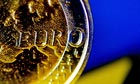  A close-up view of a Euro coin