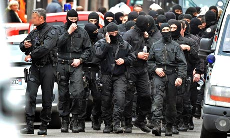 Special forces after the seige in Toulouse came to an end