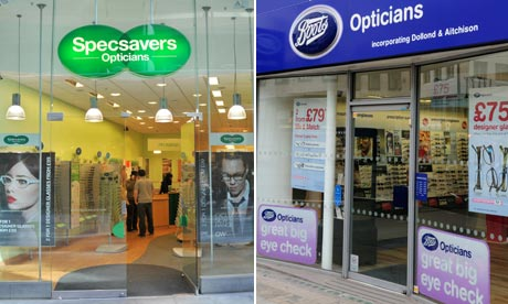 Specsavers and Boots opticians