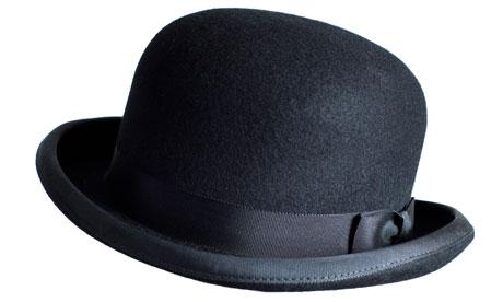 Black bowler hat. Image shot 2009. Exact date unknown.
