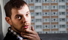 Mike Skinner photographed outside Kestrel House