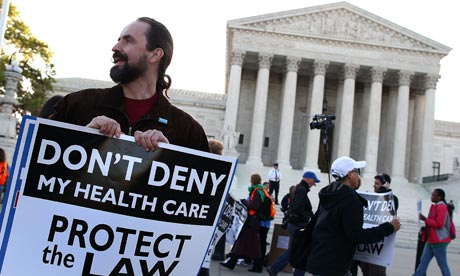 Healthcare supreme court protester