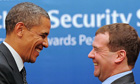 Barack Obama and Dmitry Medvedev in Seoul