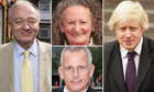Ken Livingstone, Jenny Jones, Boris Johnson, Brian Paddick