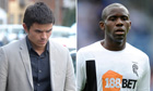 Internet troll Liam Stacey and Fabrice Muamba
