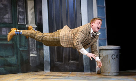 Owain Arthur as Francis Henshall in One Man, Two Guvnors