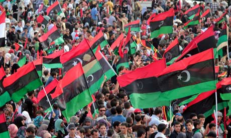 Celebration of liberation in Benghazi, Libya