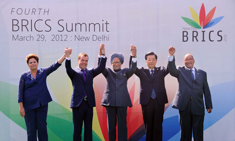 Brics summit in New Delhi, March 2012