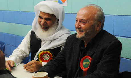 George Galloway at the Bradford West byelection count