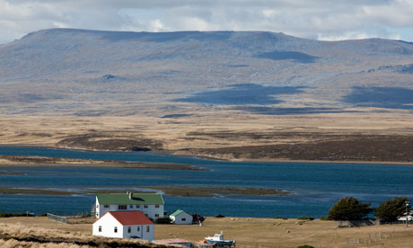 Fitzroy South falkland Islands City Darwin on East Falkland in the