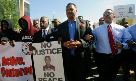 Jesse Jackson at Trayvon Martin protest march